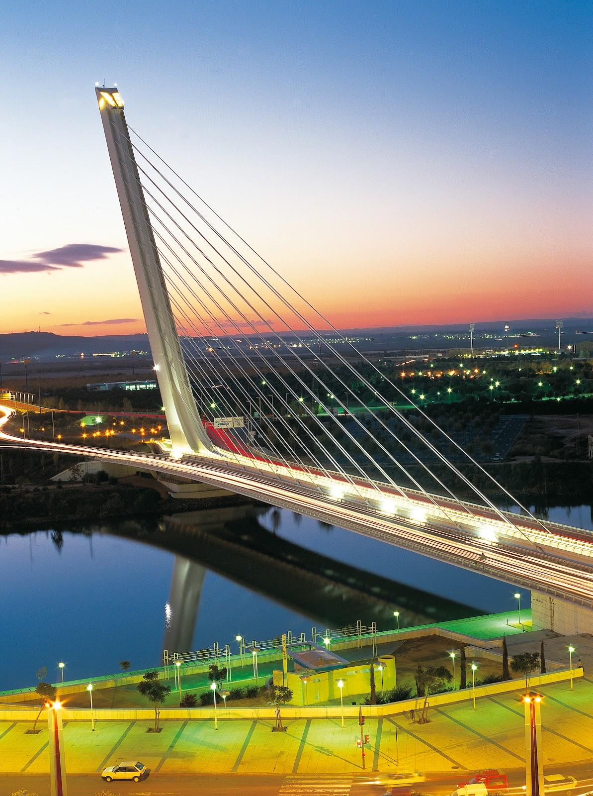 Puente Del Alamillo - Sevilla - Opera di Santiago Calatrava